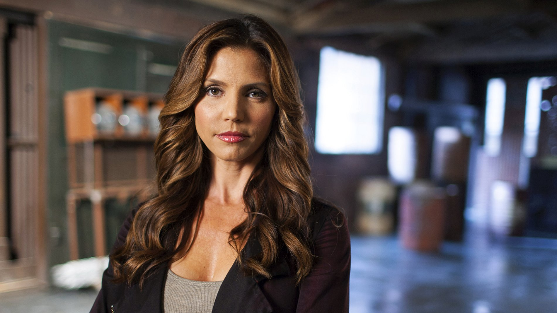 Michelle Mulan Charisma Carpenter during Opening Credits First Glance at Ryan Black Bryce Draper Stripping In the Dungeon Carol 2015